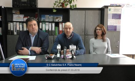 Conferință de presă S.C. Salubritas S.A. Piatra Neamt 07. 03. 2018