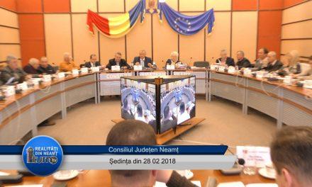 Ședința ordinară a Consiliului Județean Neamț din 28.02. 2018