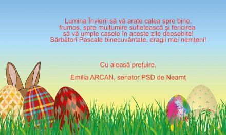Mesaj de Paște – Senator Emilia Arcan