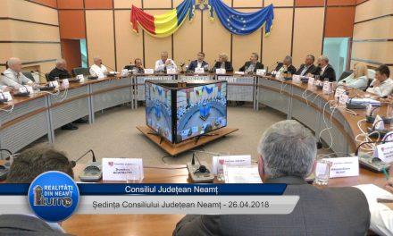 Ședința ordinară a Consiliului Județean  Neamt din 26.04.2018