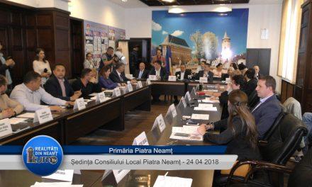 Ședința Consiliului Local Piatra Neamț din 24 04 2018