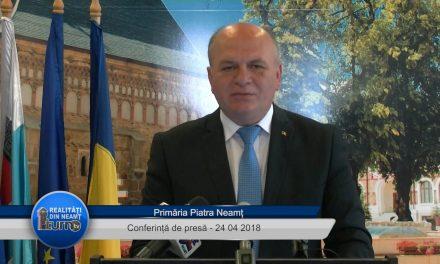Conferință de presă – Primaria Piatra Neamț – 24.04. 2018