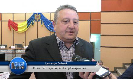Laurentiu Dulama – Prima declarație de presă după suspendare
