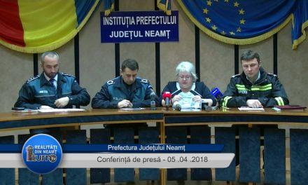Conferință de presă – Prefectura Neamț – 05.04.2018