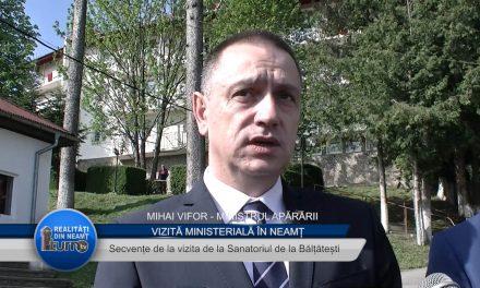 Ministrul Apararii la Balțatești Neamț