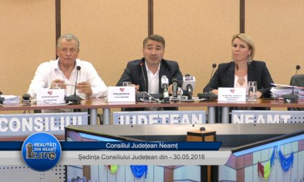 Ședința ordinară a Consiliului Județean Neamț din 30.05.2018