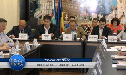 Sedința Consiliului Local  Piatra Neamț din 30.05.2018
