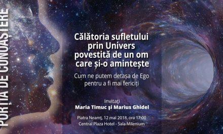 Porția de cunoaștere – Interviu cu   Marius Ghidel și Maria Timuc