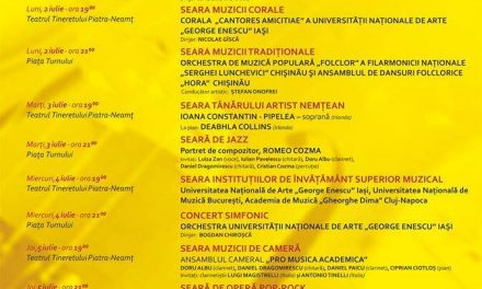 """Festivalul international  de muzică """"Vacante Muzicale la Piatra Neamț""""- Conferința de presă"""