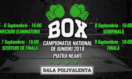 Campionatul Național de Box –  Conferință de presă 03.09.2018