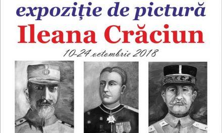 Expoziție cu portrete ale eroilor Primului Război Mondial realizate de Ileana Crăciun, la Biblioteca Județeană