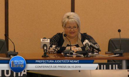 Conferință de presă Prefectura Neamț – 04.10.2018