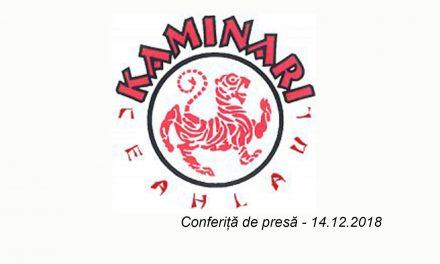 Clubul de Karate Tradițional Kaminari Piatra Neamț – 14.12. 2018