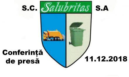 Conferința de presă S.C. Salubritas S.A. Piatra Neamț 11.12. 2018