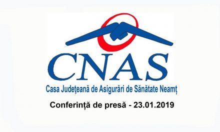 Conferință de presă C.J.A.S. Neamț 23.01.2019