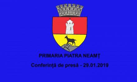 Conferința de presă Primaria Piatra Neamț 29.01.2019