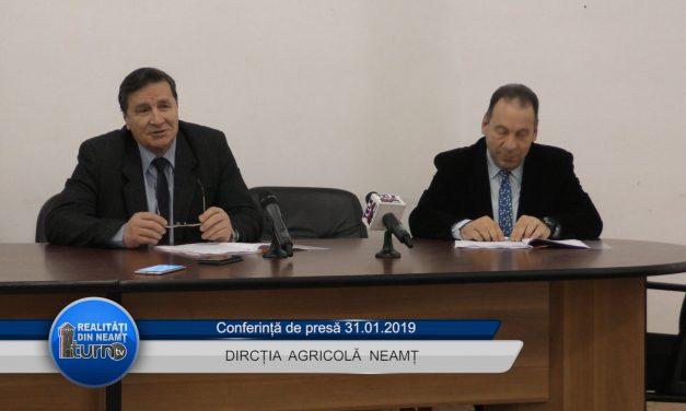 Conferință de presă Direcția Agricolă Neamț 31.01.2019