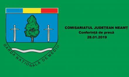 Conferință de presă Garda Naționala de Mediu- COMISARIATUL JUDEȚEAN NEAMȚ – 28.01.2019