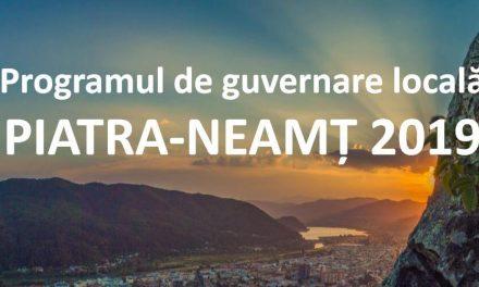 Programul de guvernare locală – PIATRA NEAMȚ 2019