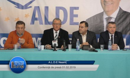 Conferință de presă A.L.D.E. Neamț 01.02.2019
