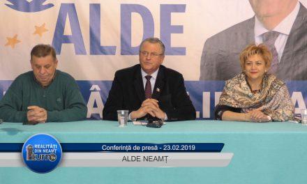 Conferință de presă ALDE Neamț – 23.02.2019