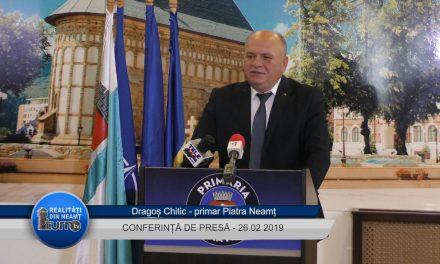 Conferință de presă Primaria Piatra Neamț – 26.02.2019