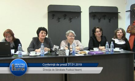 Conferință de presă D.S.P. Neamț 31.01.2019