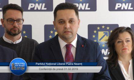 Conferință de presă P.N.L. Piatra Neamț – 01.02.2019