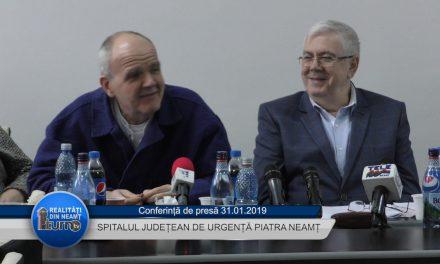 Conferință de presă Spitalul Județean de Urgență Piatra Neamț 31 01 2019