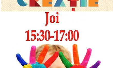 Ateliere de creație pentru copii la Punctul de lectură și împrumut Speranța al Bibliotecii Județene