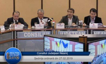 Ședința Consiliul Judeţean Neamţ din 27.02.2019