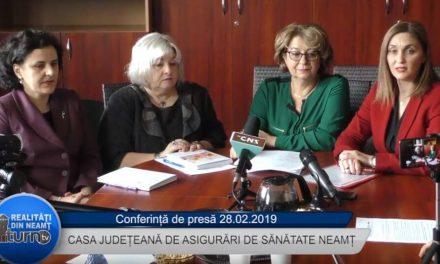 Conferință de presă Casa Județeană de Asigurări de Sănătate Neamț -28 02 2019