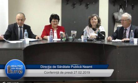 Conferință de presă D.S.P. Neamț 27.02.2019