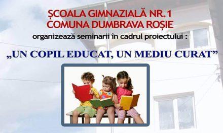 UN COPIL EDUCAT, UN MEDIU CURAT
