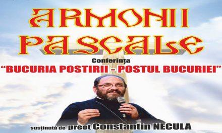 """Armonii Pascale – Pr Constantin NECULA Conferința """"Bucuria postirii – Postul bucuriei"""""""