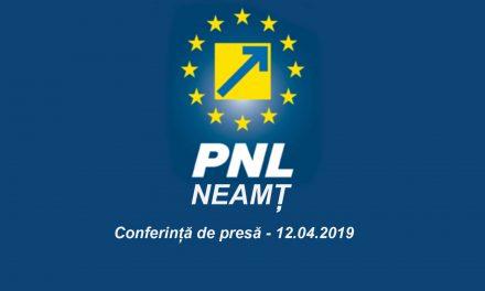 Conferință de presă PNL Neamț – 12.04.2019