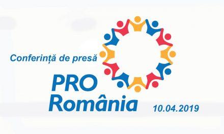 Conferința de presa PRO Romania