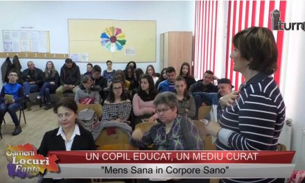 """""""Un copil educat-un mediu curat""""- """" Mens Sana in Corpore Sano"""""""