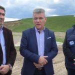Vizita ministrului Ioan Deneș la lucrările hidrotehnice de la Slobozia, Neamț 23.05.2019
