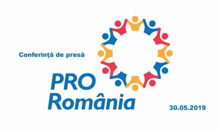Conferință de presă PRO România Neamț – 30.05.2019