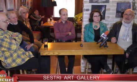 Mariana Papară, Florin Mihai, Arcadie Răileanu, Petru Diaconu la Sestri Art Gallery