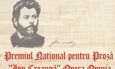 """PREMIUL NAŢIONAL PENTRU PROZĂ """"ION CREANGĂ"""", OPERA OMNIA, LA EDIŢIA A III-A"""