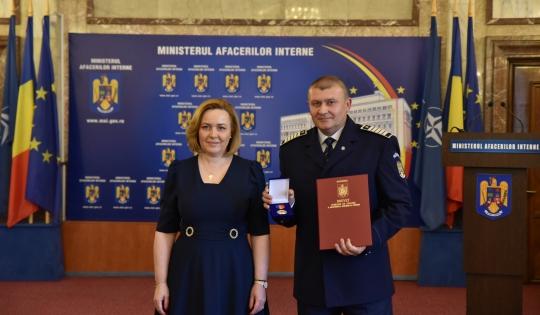 Polițist din Neamț distins cu Emblema de Onoare a Ministerului Afacerilor Interne!