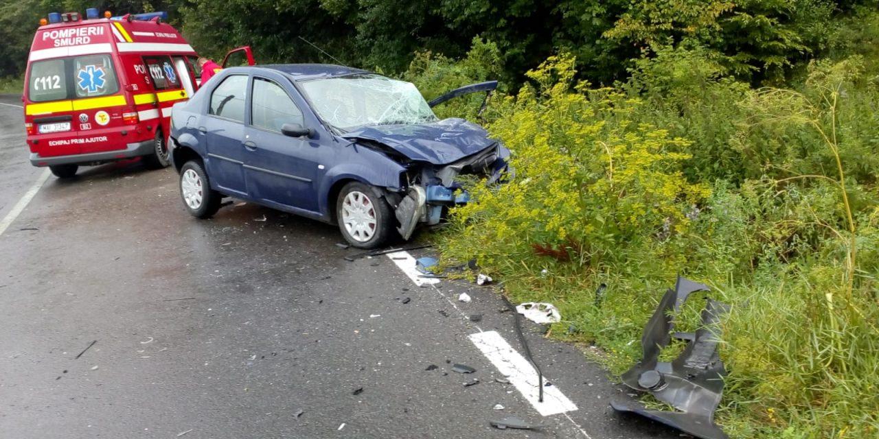 Accident la Grințieș cu două victime încarcerate!