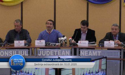 Consiliul Judeţean Neamţ – Şedinţa extraordinară din 10 01 2020