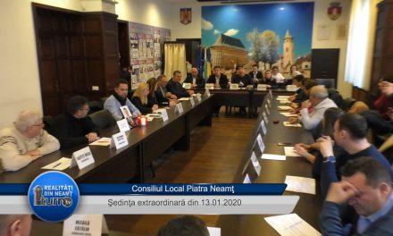 Consiliul Local Piatra Neamţ – Şedinţa extraordinară din 13 01 2020