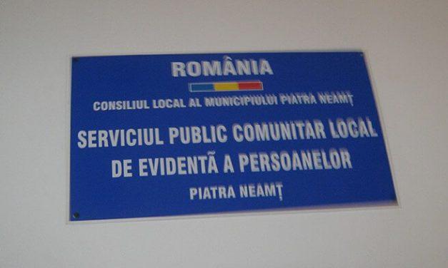 În atenţia cetăţenilor care se adresează Biroului Public Comunitar Local de Evidenţă a Persoanelor Piatra Neamţ în perioada stării de urgenţă