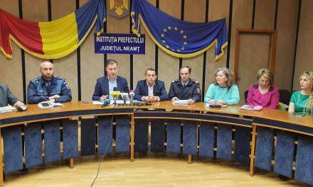 Conferință de presă legată de măsurile luate în județul Neamț, legate de gestionarea epidemiei de coronavirus – 10.03.2020