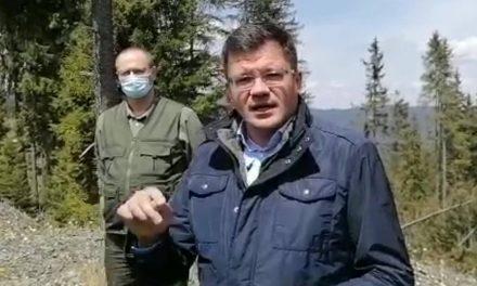 Costel Alexe în vizită de lucru în pădurile din Neamţ