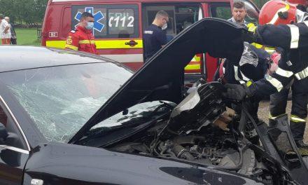 Autoturism intrat într-un gard in comuna Piatra Șoimului
